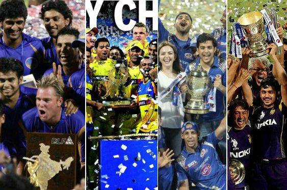 Indian Premier League T20 past winners list