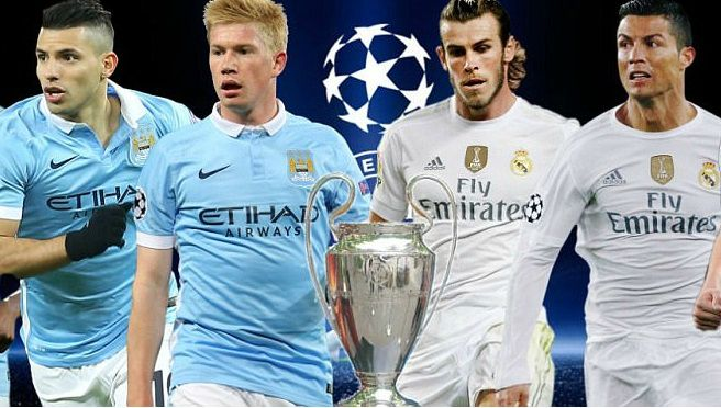 Manchester City vs Real Madrid 2016 match