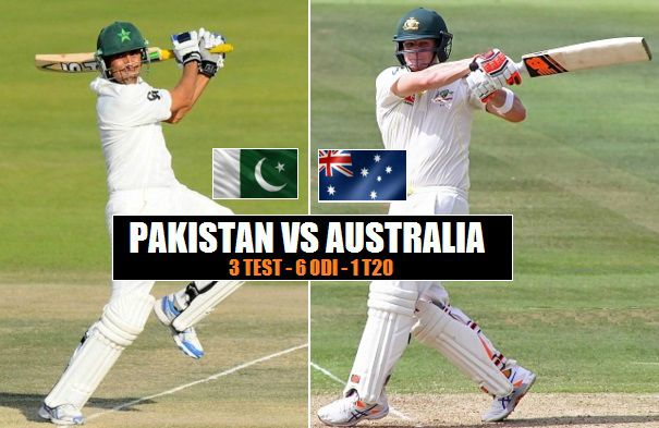 Pakistan Tour of Australia schedule