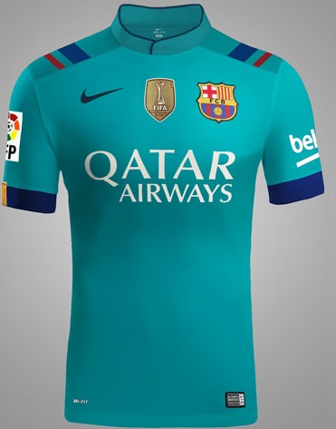 FC Barcelona 2016-17 third alternative green kit 1