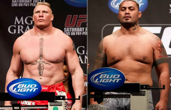 Brock Lesnar vs Mark Hunt Live