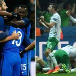 France 2-1 Republic of Ireland (Griezmann scores twice in second half to turn the tables)