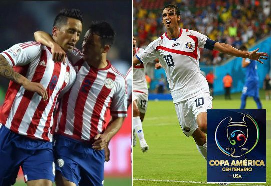 Paraguay vs Costa Rica live Highlights 2016 copa america