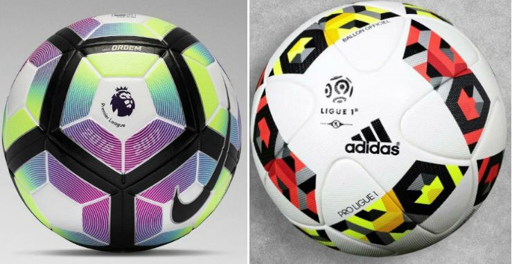 Official match balls in 2016-17 season