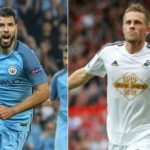 Swansea City 1-3 Manchester City (Aguero scores either side of Llorente goal to earn 6th consecutive league win)